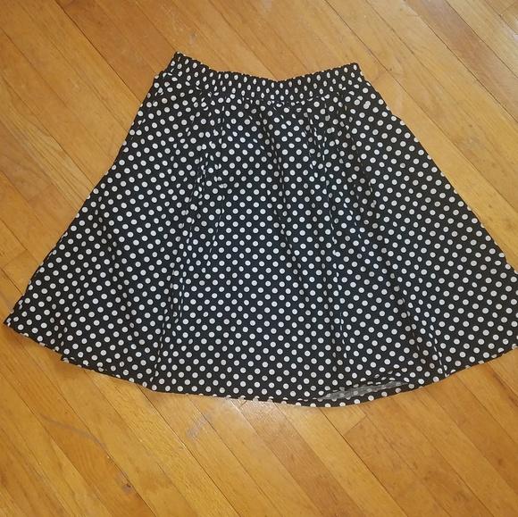 Cynthia Rowley Dresses & Skirts - Black/White Polka Dot Midi Skirt